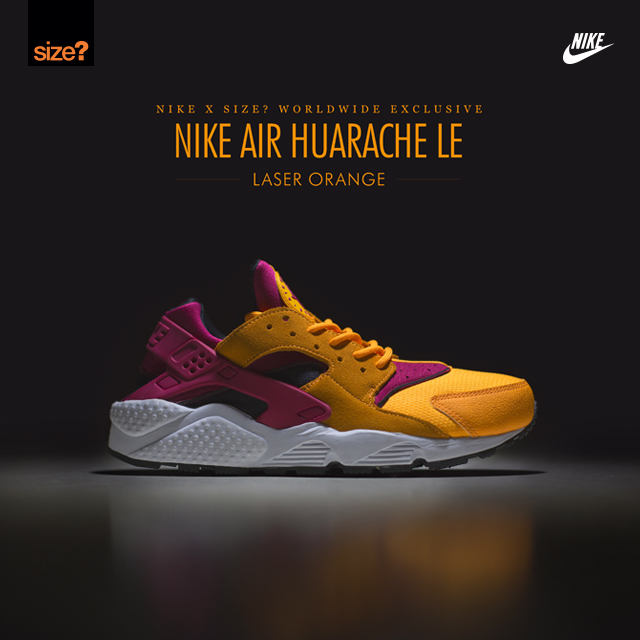 Nike Air Huarache Laser Orange–size Worldwide exclusive 2