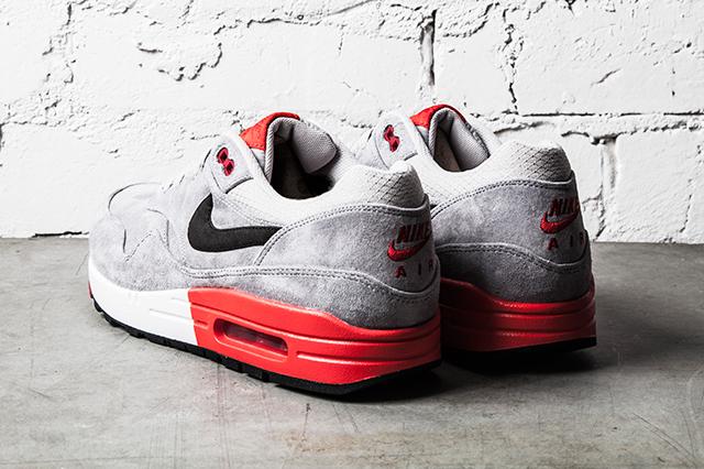 Nike Air Max 1 Premium–Grey Red 3