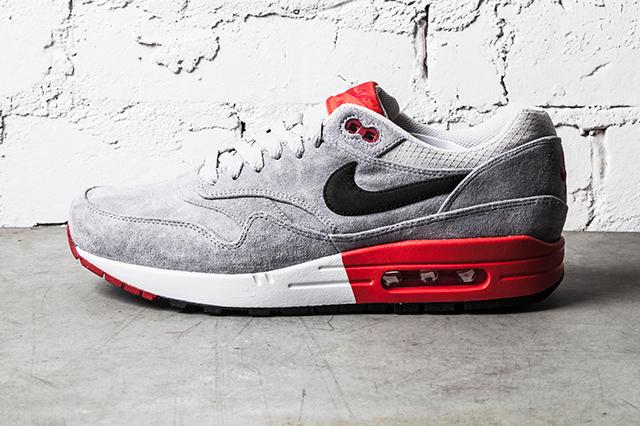 Nike Air Max 1 Premium–Grey Red 4