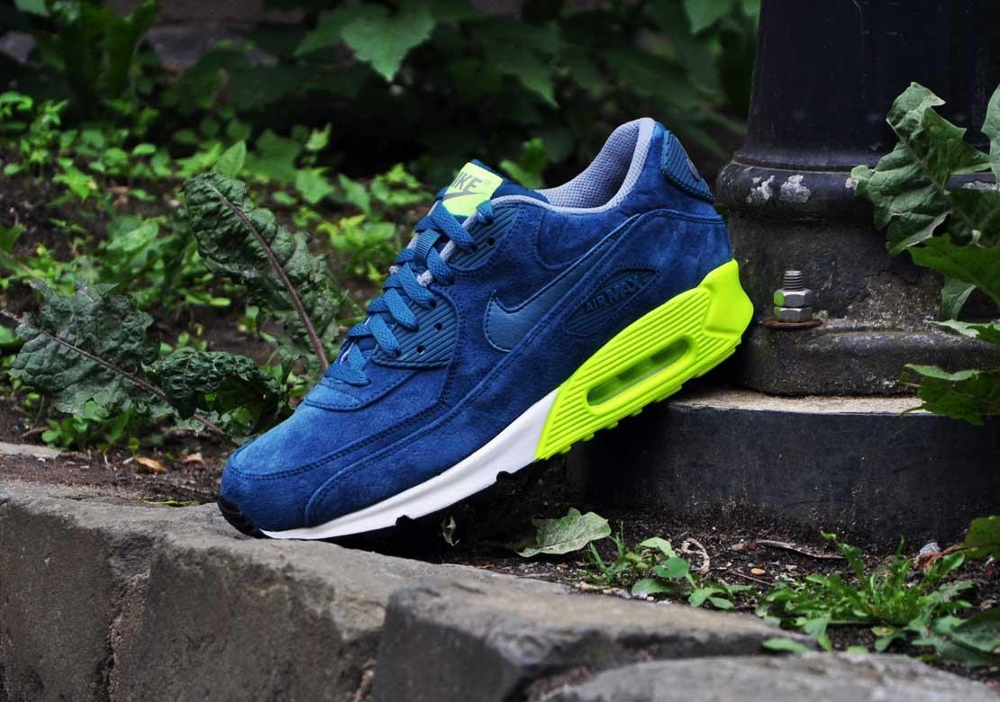 Nike Air Max 90 Premium–Blue Suede 1