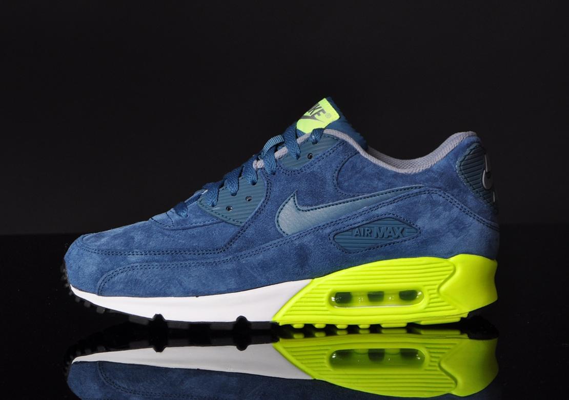 Nike Air Max 90 Premium–Blue Suede 3