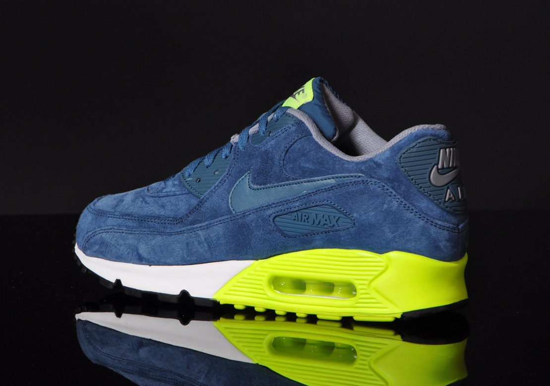 Nike Air Max 90 Premium–Blue Suede 5
