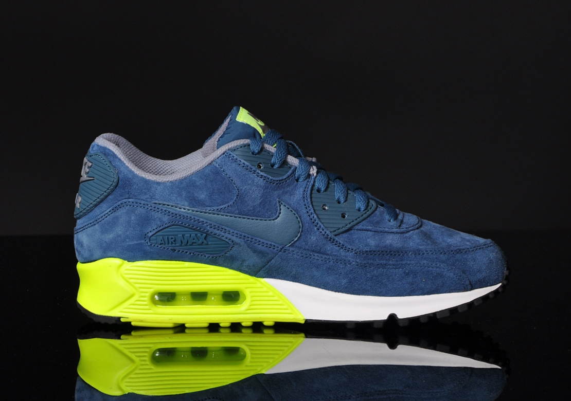 Nike Air Max 90 Premium–Blue Suede 6