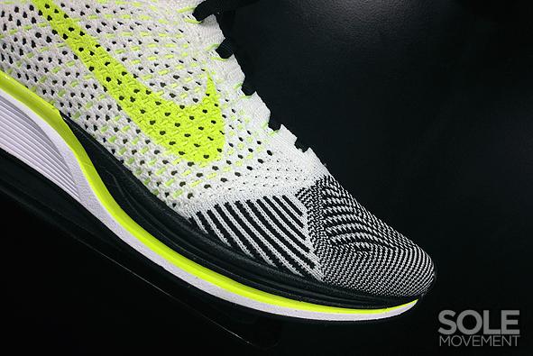 Nike Flyknit Racer White Black Volt 3