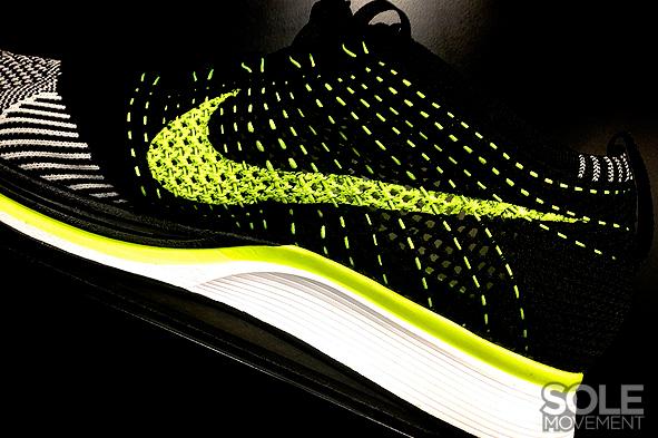 Nike Flyknit Racer White Black Volt 4