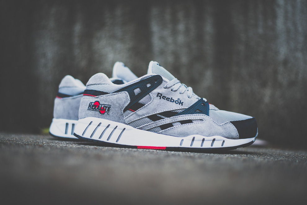 Reebok Sole Trainer Grey Navy Red 10