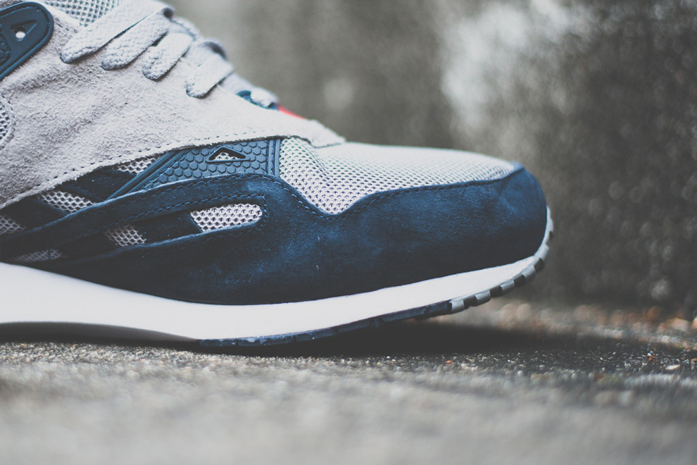 Reebok Sole Trainer Grey Navy Red 6