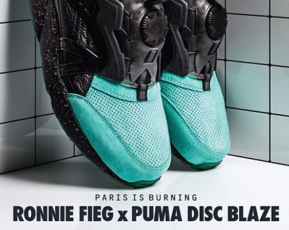 Ronnie Fieg x PUMA Disc Blaze Lite Coat of Arms Teal 1