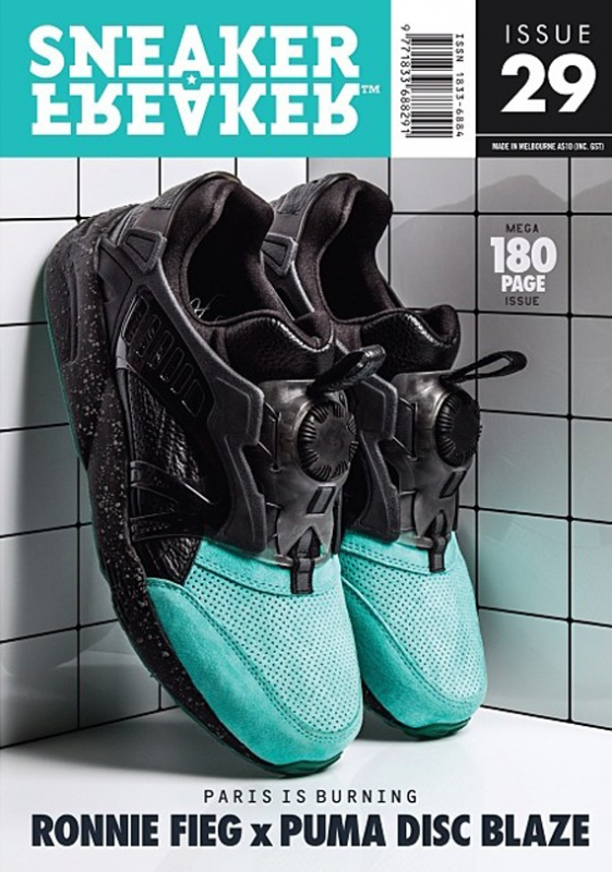 Ronnie Fieg x PUMA Disc Blaze Lite Coat of Arms Teal 2