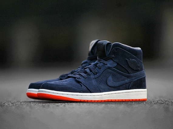 air jordan 1 mid navy orange 01