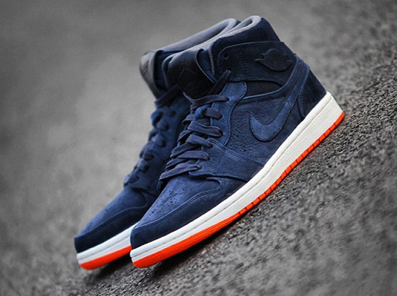 air jordan 1 mid navy orange