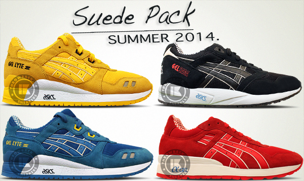 asics summer suede pack collection 2014 1