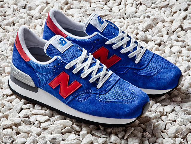 new balance 990 made in usa blue red