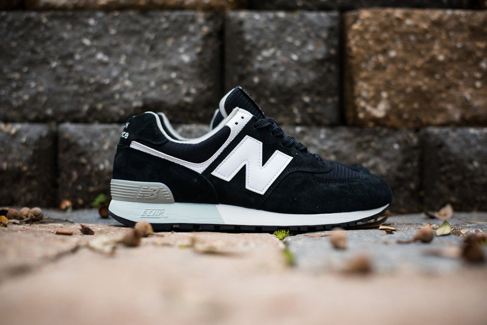 New Balance 576 Black White Suede Pack 1