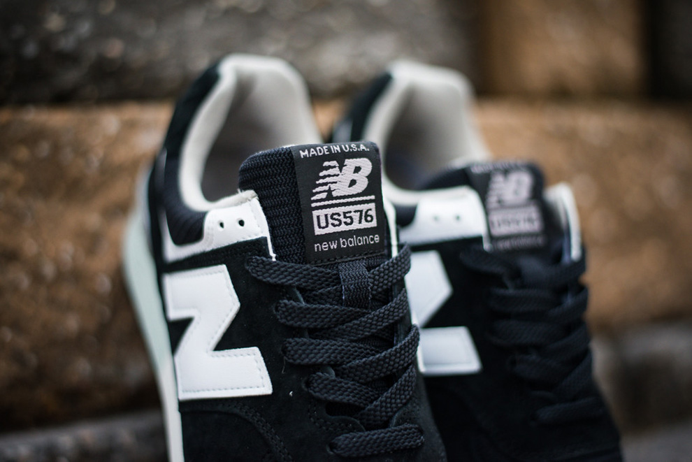 New Balance 576 Black White Suede Pack 4