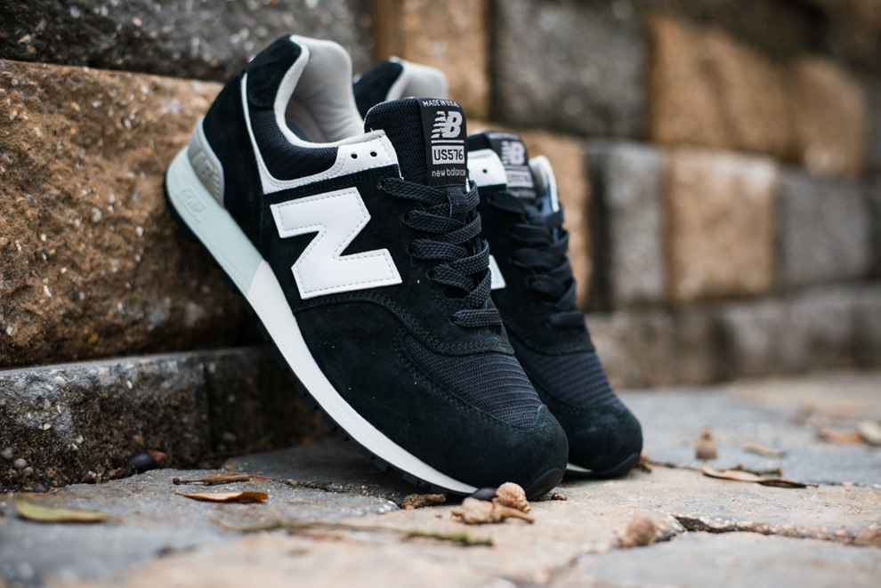 New Balance 576 Black White Suede Pack 6