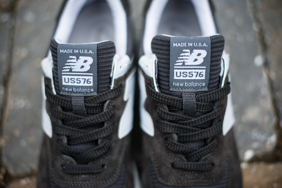 New Balance 576 Charcoal Suede Pack 4