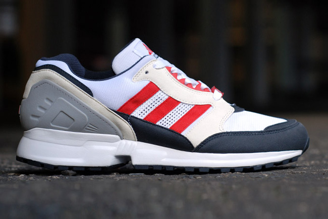 adidas EQT Cushion Grey Navy Red 1