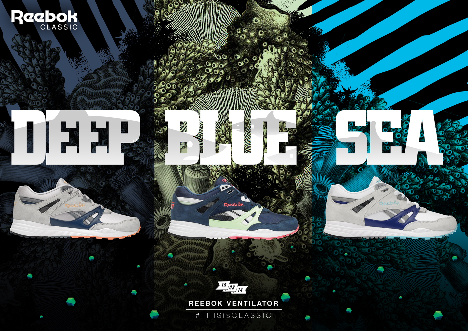 Reebok Ventilator Deep Blue Sea Pack 1