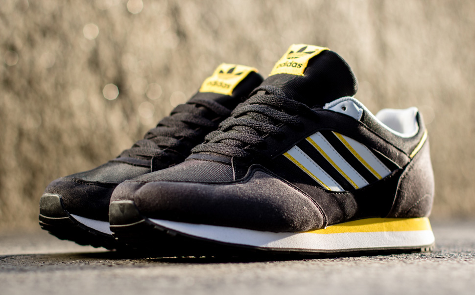 adidas Originals ZX 100 Black and Sunshine 1