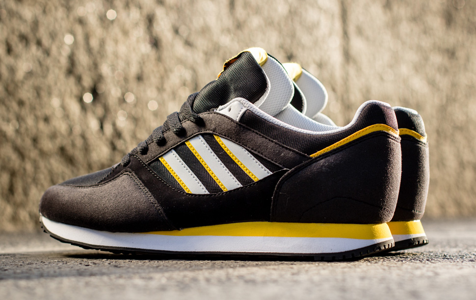 adidas Originals ZX 100 Black and Sunshine 2