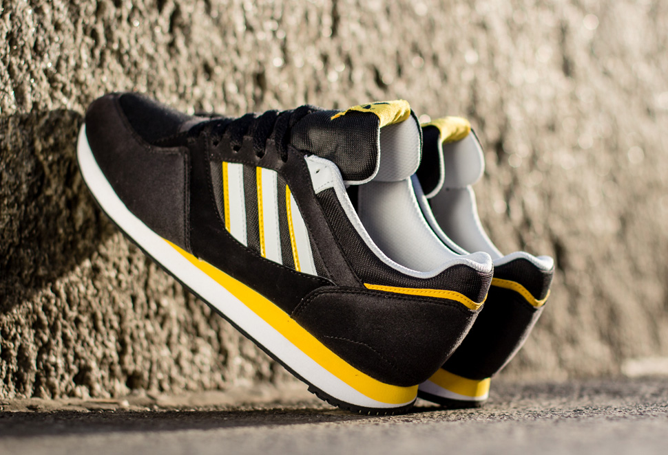 adidas Originals ZX 100 Black and Sunshine 3