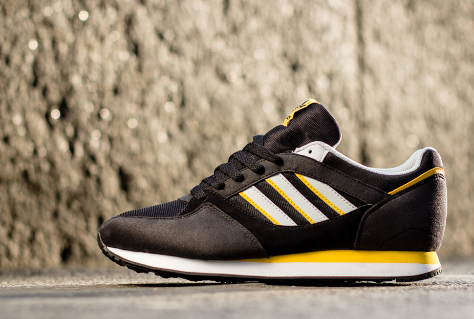 adidas Originals ZX 100 Black and Sunshine 4
