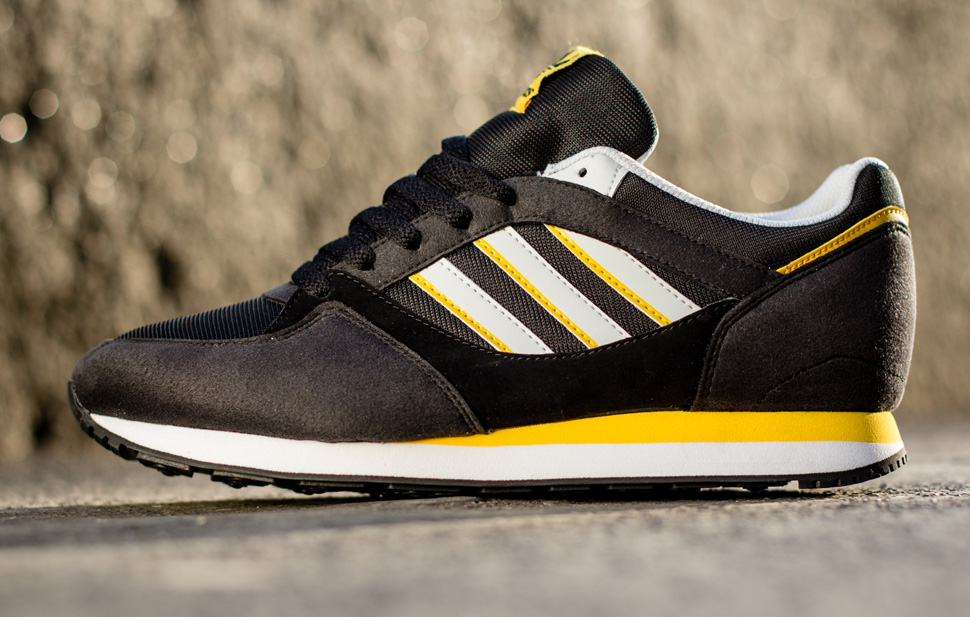 adidas Originals ZX 100 Black and Sunshine 5