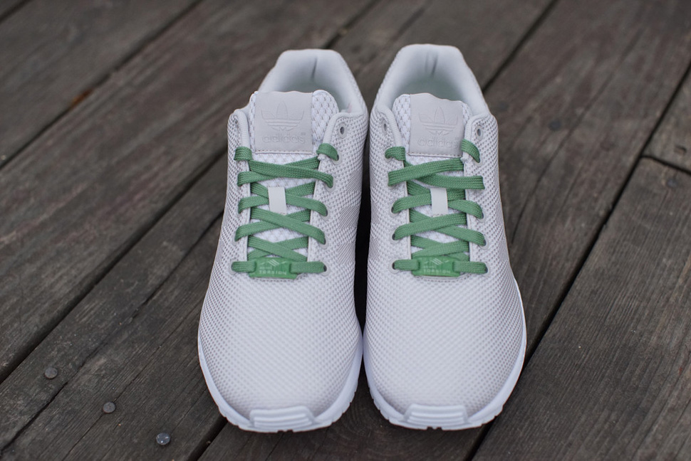 adidas ZX FLUX Weave White Grey Pea Green 2
