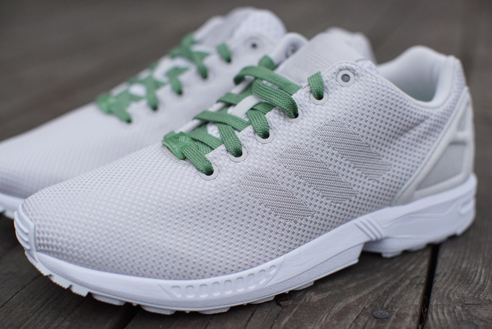 adidas ZX FLUX Weave White Grey Pea Green 3