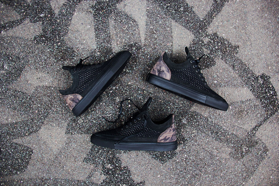 Filling Pieces Black 3M Mesh Trainers 1