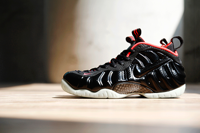 NIKE AIR FOAMPOSITE PRO PRM SOLAR RED 1