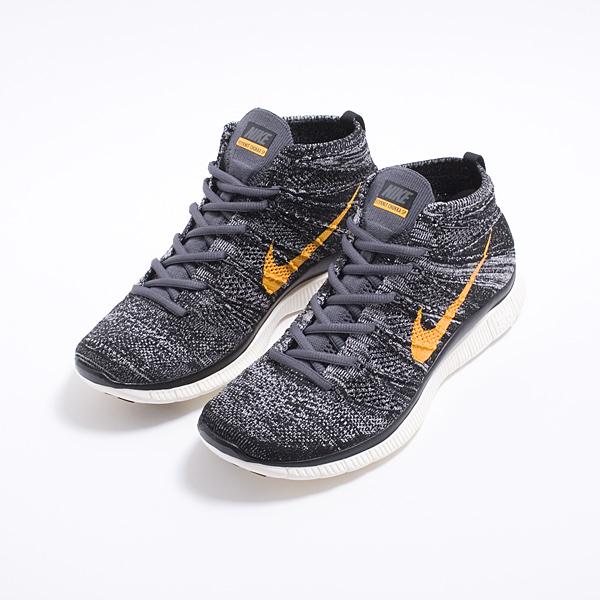 Nike Free Flyknit Chukka SP Black Grey University Gold 4