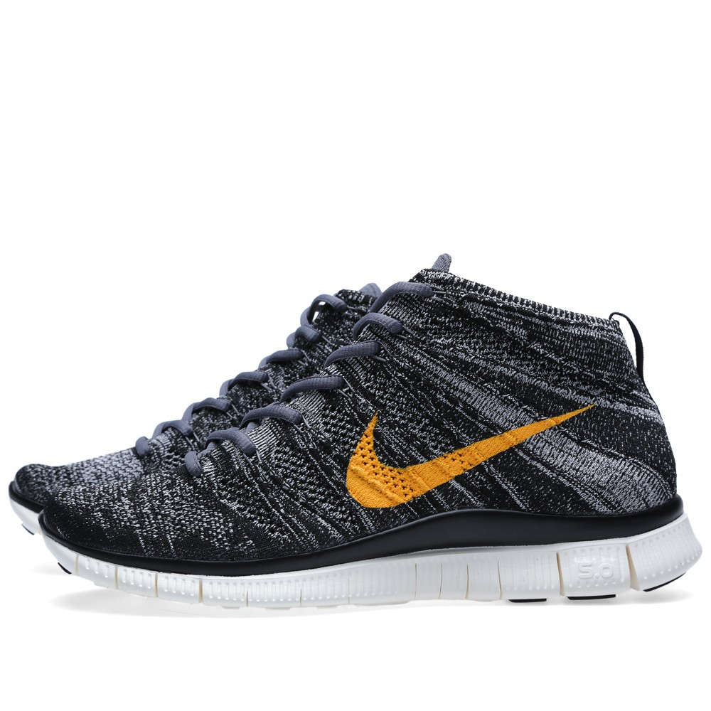 Nike Free Flyknit Chukka SP Black University Gold 2