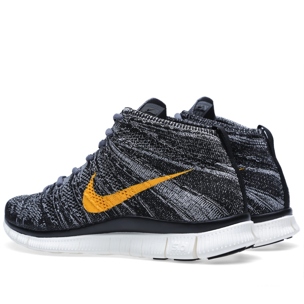 Nike Free Flyknit Chukka SP Black University Gold 3