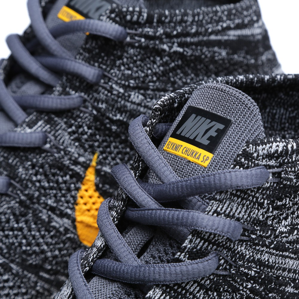 Nike Free Flyknit Chukka SP Black University Gold 4