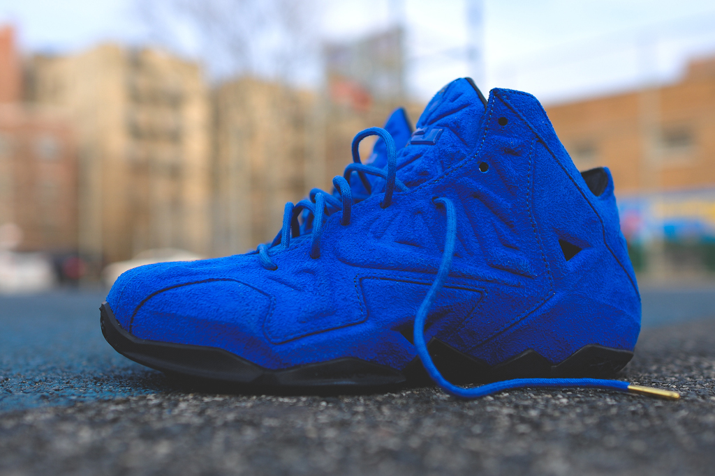 Nike LeBron 11 EXT Blue Suede 1