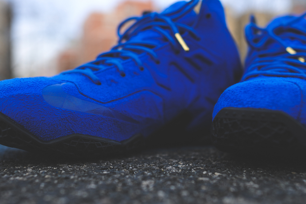 Nike LeBron 11 EXT Blue Suede 3
