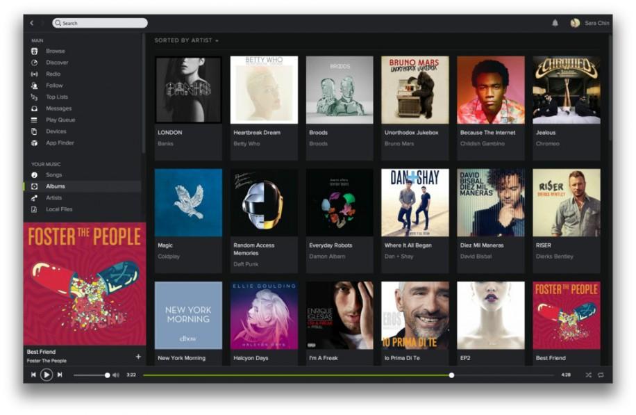 Spotify mit neuem Design und Neuerungen 2