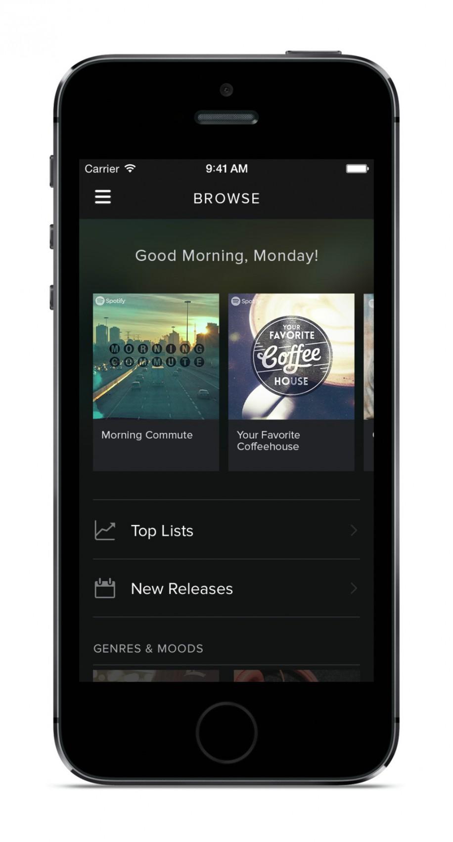 Spotify mit neuem Design und Neuerungen 7