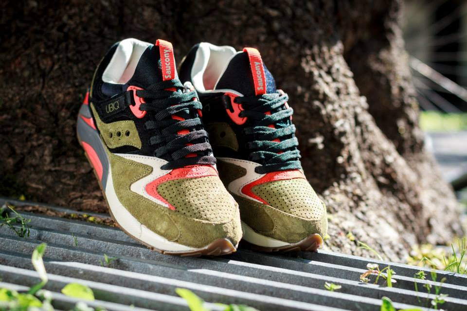 UBIQ x Saucony Grid 9000 Dirty Martini 1