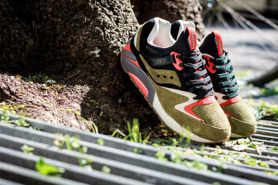 UBIQ x Saucony Grid 9000 Dirty Martini 3