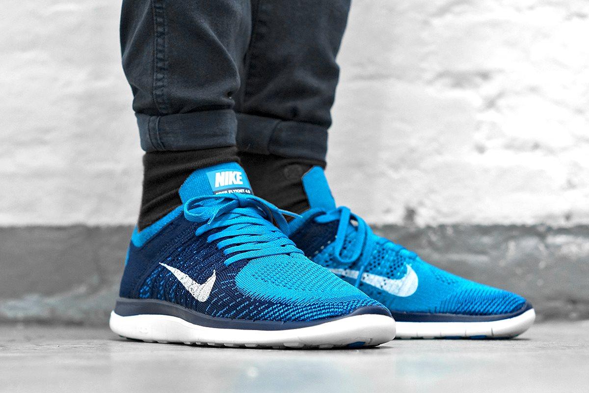 Nike Free Flyknit 4.0 Brace Blue 1