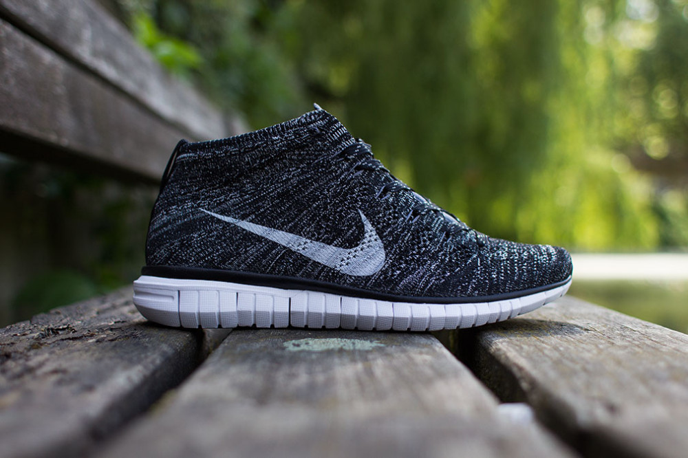 Nike Free Flyknit Chukka Black Grey White 1 1000x666