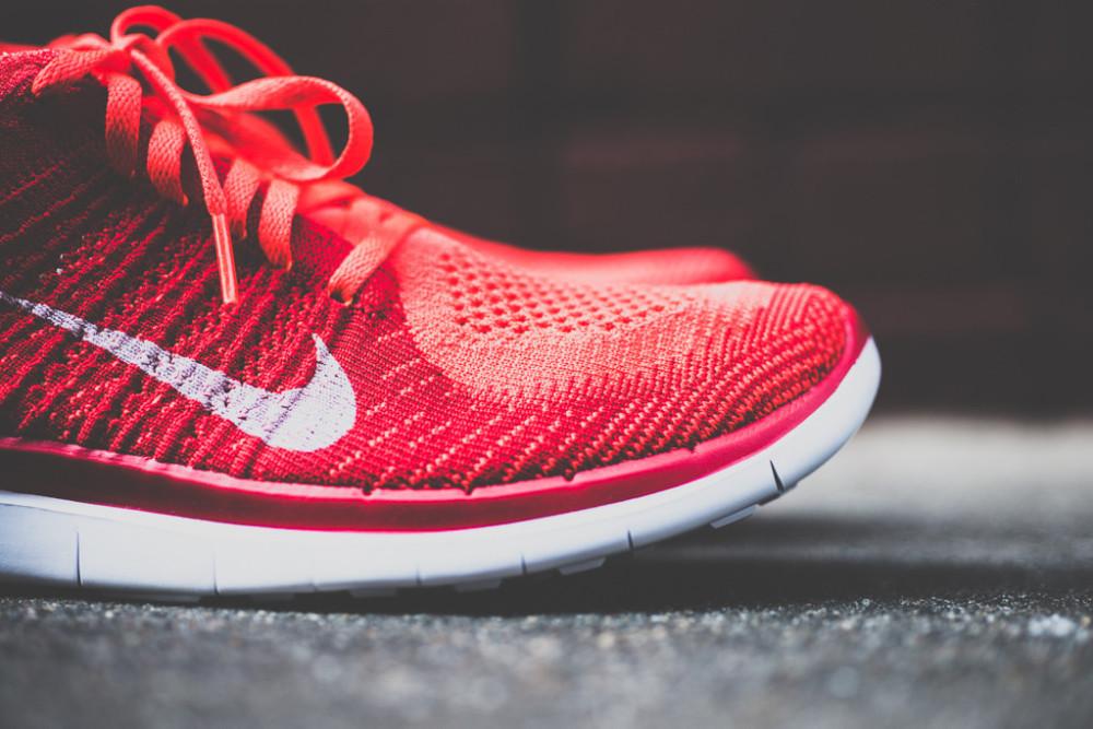 Nike Free Flyknit4.0 Bright Crimson 2 1000x667