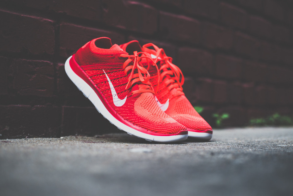 Nike Free Flyknit4.0 Bright Crimson 6 1000x667