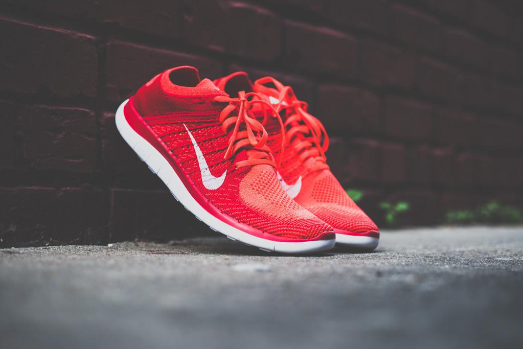Nike Free Flyknit4.0 Bright Crimson 6