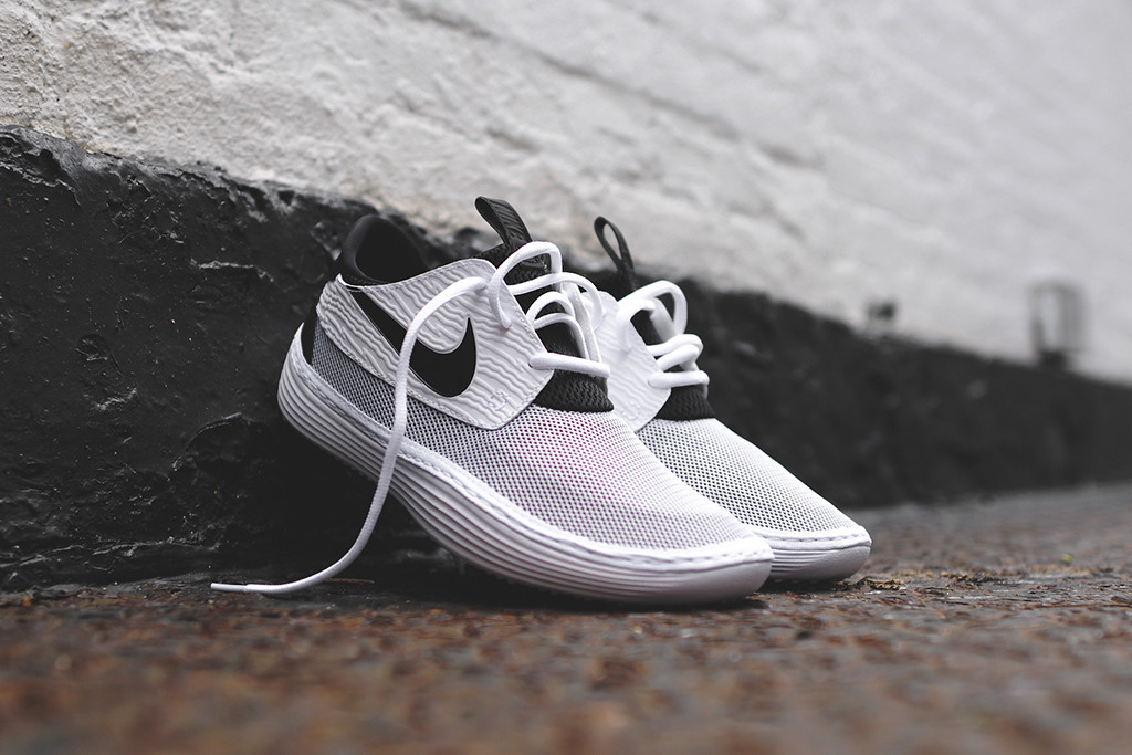 Nike Solarsoft Moccasin White Black 8