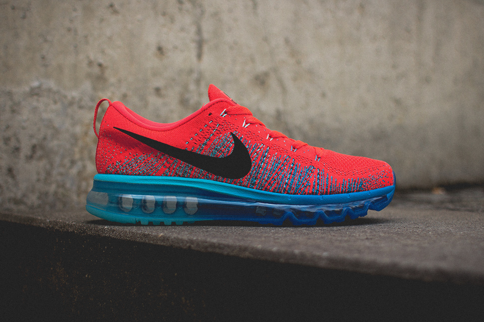 Nike Flyknit Air Max Bright Crimson 1