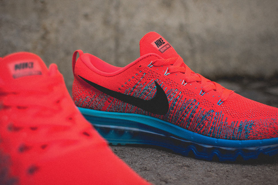 Nike Flyknit Air Max Bright Crimson 3